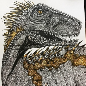 Photo of Indoraptor illustration.