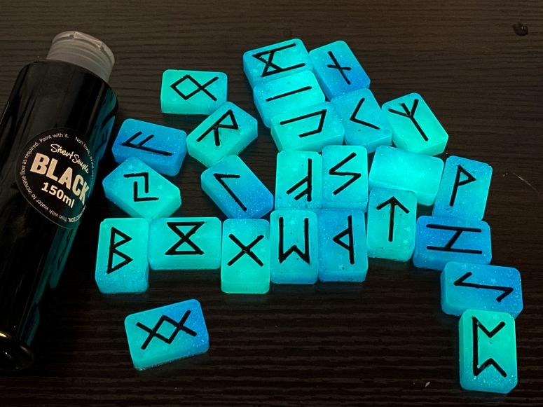 Glow in the dark runestones.
