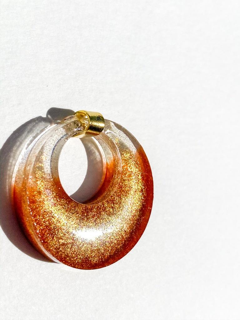 Summer gold pendant.